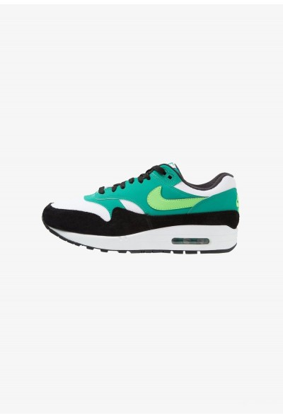 Nike AIR MAX 1 - Baskets basses white/green strike/neptune green/black