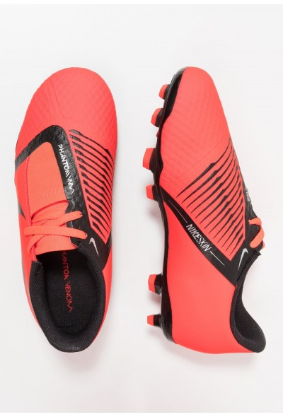 Nike PHANTOM ACADEMY FG - Chaussures de foot à crampons bright crimson/black/metallic silver
