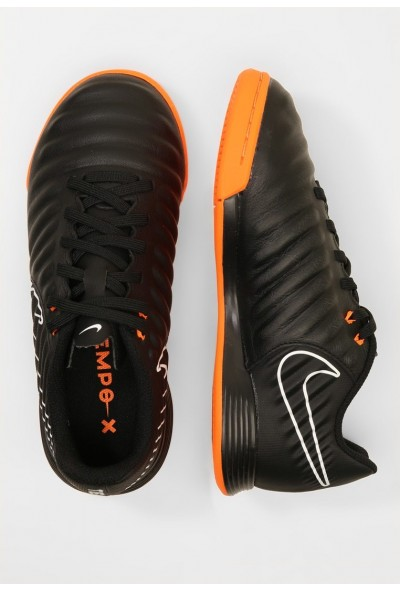 Nike TIEMPO LEGENDX 7 ACADEMY IC - Chaussures de foot en salle black/total orange/white