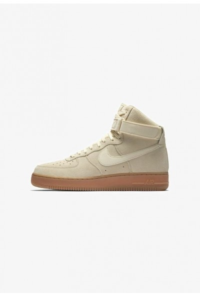 Nike AIR FORCE 1 HIGH 07 LV8 SUEDE - Baskets montantes muslin/gum medium brown/ivory