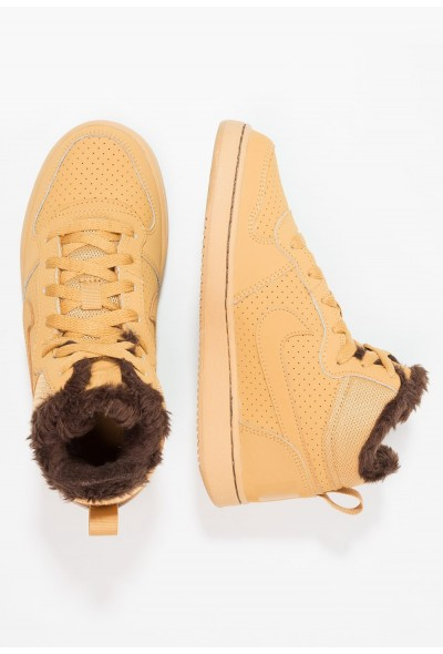 Nike COURT BOROUGH MID - Baskets montantes haystack/baroque brown