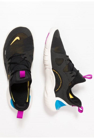 Black Friday 2019 - Nike FREE RN 5.0 - Chaussures de running neutres black/laser orange/blue hero/hyper violet/summit white