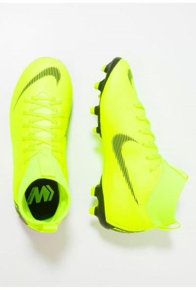 Nike MERCURIAL 6 ACADEMY MG - Chaussures de foot à crampons volt/black