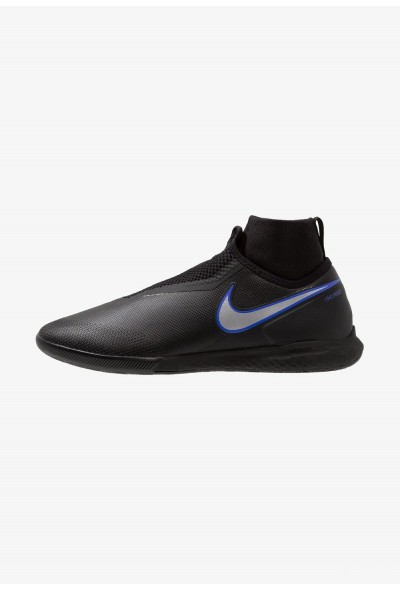 Nike PHANTOM REACT OBRA PRO IC - Chaussures de foot en salle black/metallic silver/racer blue