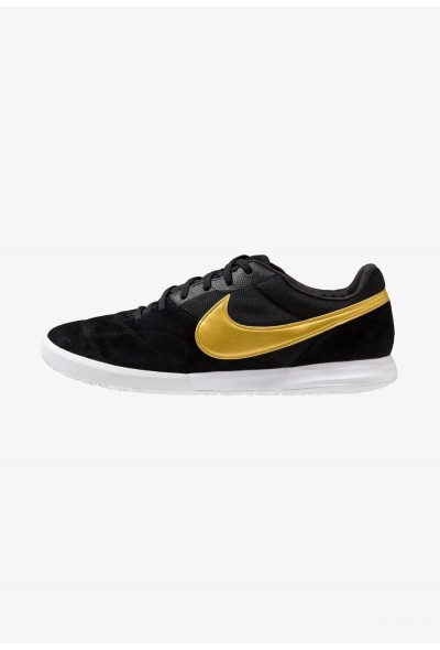 Nike THE PREMIER II SALA - Chaussures de foot en salle black/metallic vivid gold/white