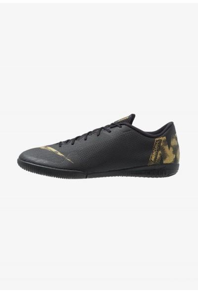 Nike MERCURIAL VAPORX 12 ACADEMY IC - Chaussures de foot en salle black/metallic vivid gold