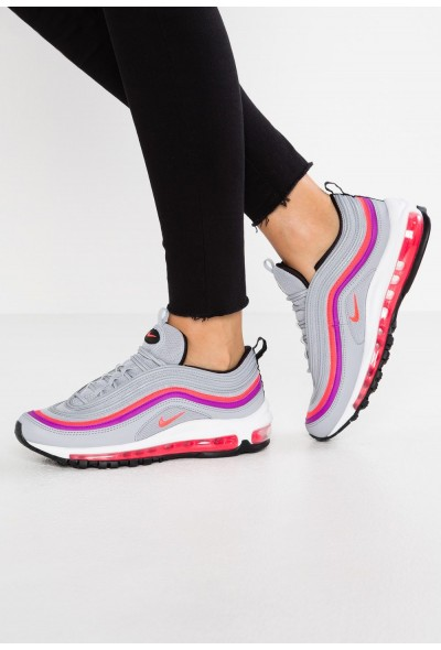 Nike NIKE AIR MAX 97 - Baskets basses wolf grey/solar red/vivid purple/black