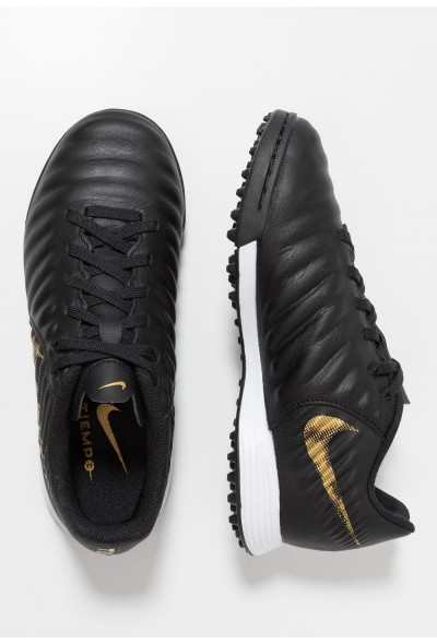 Nike TIEMPO LEGENDX 7 ACADEMY TF - Chaussures de foot multicrampons black/metallic vivid gold