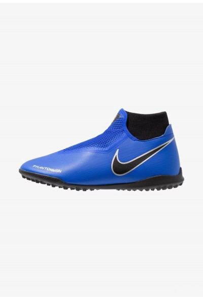 Nike PHANTOM OBRAX 3 ACADEMY DF TF - Chaussures de foot multicrampons racer blue/black/metallic silver/volt