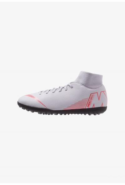 Nike SUPERFLYX 6 CLUB TF - Chaussures de foot multicrampons wolf grey/light crimson/black