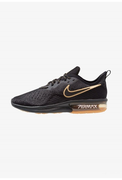 Nike AIR MAX SEQUENT 4 - Chaussures de running neutres black/anthracite/white/light brown/metallic gold