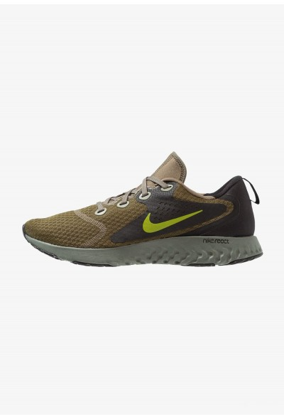 Nike LEGEND REACT - Chaussures de running neutres medium olive/peat moss/black/dark stucco/hyper royal/hyper crimson