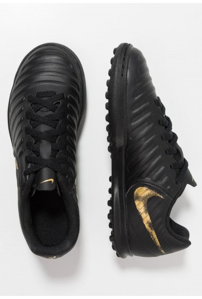 Nike TIEMPO LEGENDX 7 CLUB TF - Chaussures de foot multicrampons black/metallic vivid gold