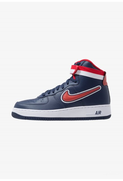 Nike AIR FORCE 1 '07 LV8 SPORT - Baskets montantes midnight navy/universal red/white