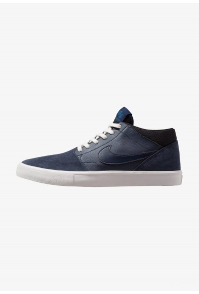 Nike PORTMORE II SOLAR MID - Baskets montantes obsidian/phantom/blue force/white