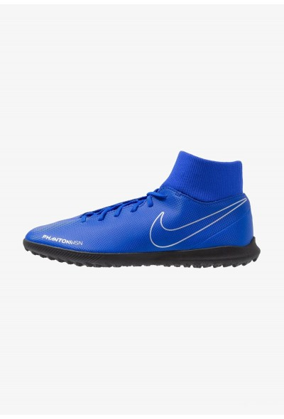 Nike PHANTOM OBRAX 3 CLUB DF TF - Chaussures de foot multicrampons racer blue/black/volt/metalli silver