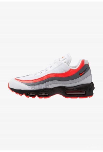 Nike AIR MAX 95 ESSENTIAL - Baskets basses white/bright crimson/black/pure platinum/wolf grey/cool grey