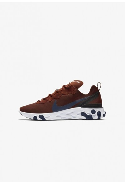 Nike REACT 55 - Baskets basses mars stone/black/white/midnight navy