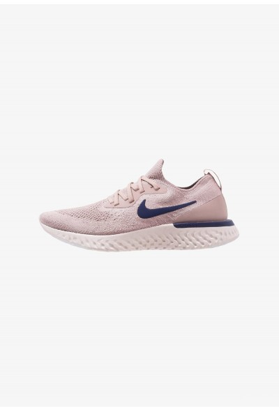 Nike EPIC REACT FLYKNIT - Chaussures de running neutres diffused taupe/blue void/phantom/crimson tint