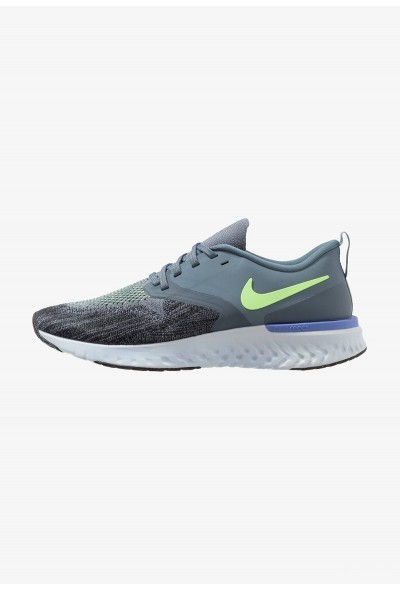 Nike ODYSSEY REACT 2 FLYKNIT - Chaussures de running neutres armory blue/black/half blue/lime blast/leche blue