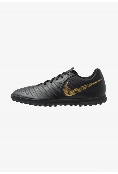 Nike TIEMPO LEGENDX 7 CLUB TF - Chaussures de foot multicrampons black/metalic vivid gold