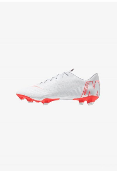Nike MERCURIAL VAPOR 12 PRO FG - Chaussures de foot à crampons wolf grey/light crimson/pure platinum/metallic silver