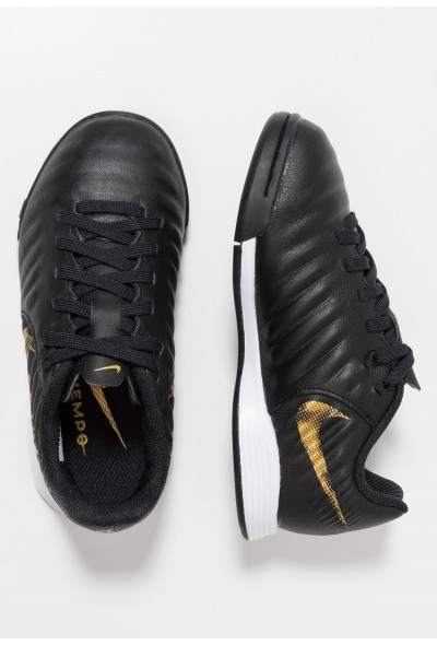 Nike TIEMPO LEGENDX 7 ACADEMY IC - Chaussures de foot en salle black/metallic vivid gold