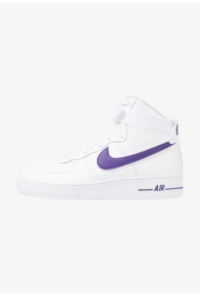 Nike AIR FORCE 1 '07 3 - Baskets montantes white/court purple
