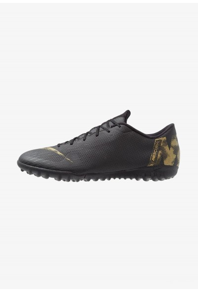 Nike MERCURIAL VAPORX 12 ACADEMY TF - Chaussures de foot multicrampons black/metallic vivid gold