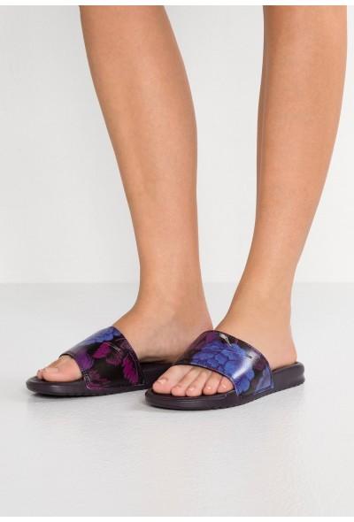 Nike NIKE BENASSI JDI PRINT - Mules burgundy ash