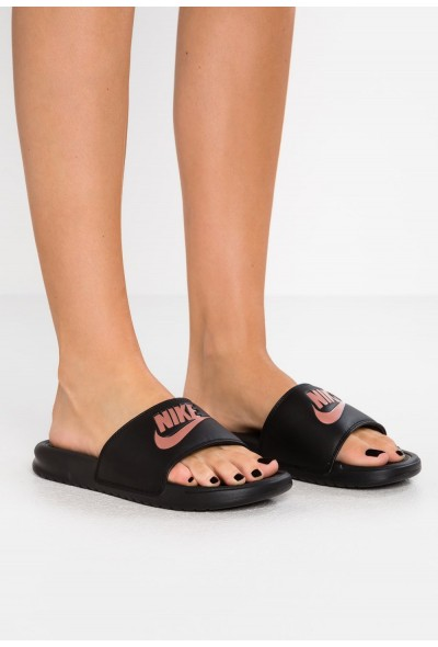 Nike BENASSI JDI - Mules black/rose gold