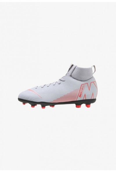 Nike CLUB MG - Chaussures de foot à crampons wolf grey/light crimson/black