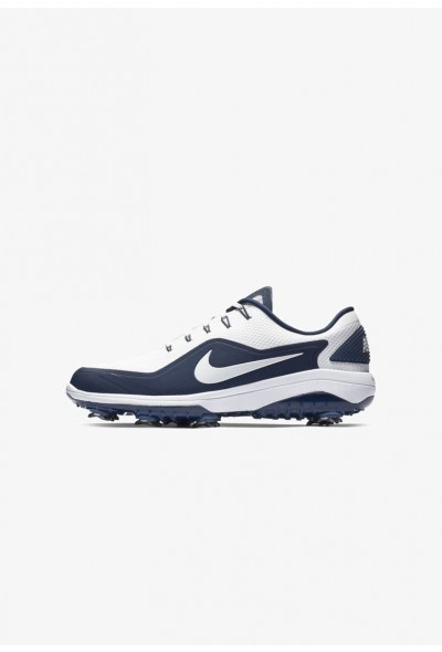Nike REACT VAPOR  - Chaussures de golf white/midnight navy/metallic white