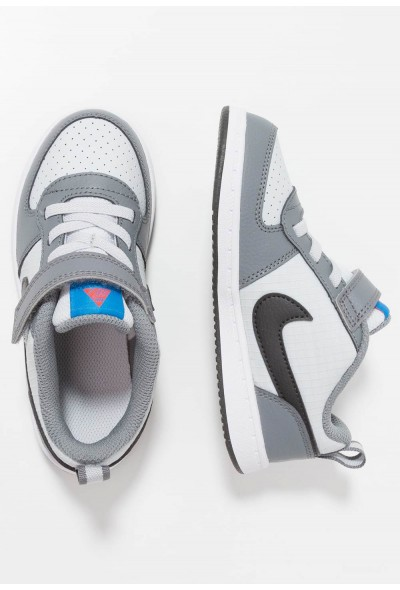 Nike COURT BOROUGH  - Chaussures premiers pas cool grey/anthracite/pure platinum/photo blue