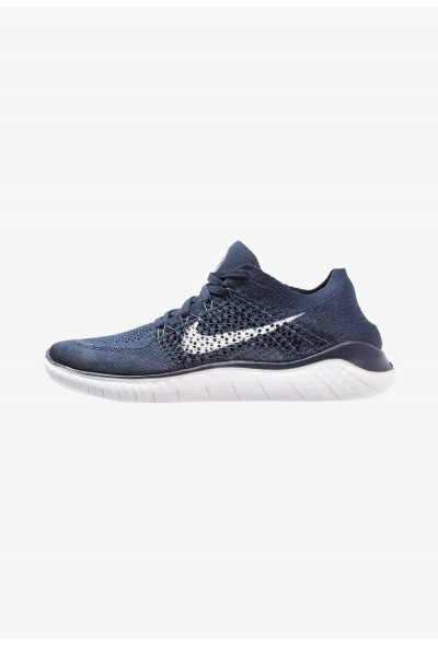 Nike FREE RUN FLYKNIT 2018 - Chaussures de course neutres college navy/white/squadron blue