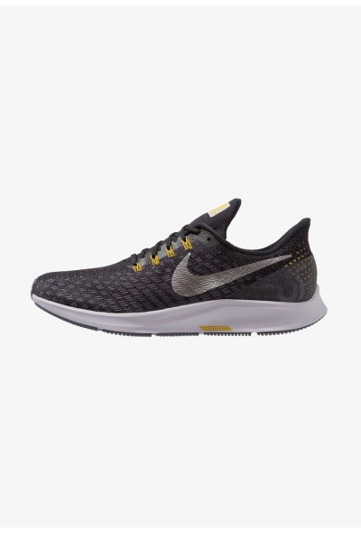 Black Friday 2019 - Nike AIR ZOOM PEGASUS 35 - Chaussures de running neutres black/metallic pewter/gridiron/peat moss/provence purple