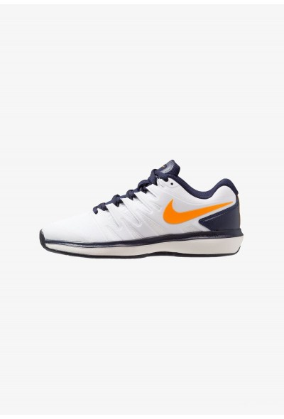 Nike AIR ZOOM PRESTIGE CLY - Chaussures de tennis sur terre battue white/orange peel/blackened blue/phantom
