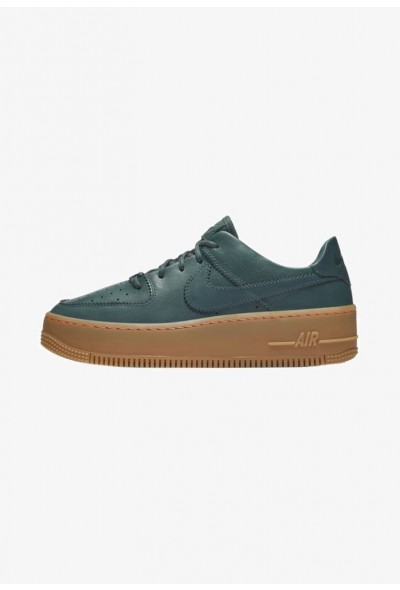 Nike AIR FORCE 1 SAGE  - Baskets basses dark green/nude