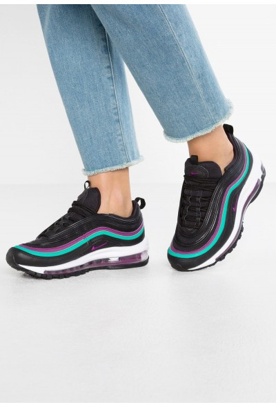 Nike NIKE AIR MAX 97 - Baskets basses black/bright grape/clear emerald