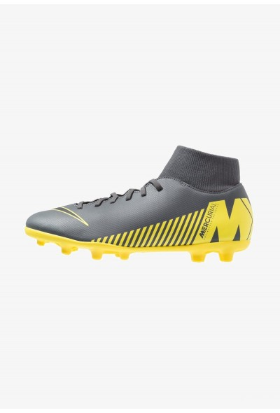 Nike MERCURIAL 6 CLUB MG - Chaussures de foot à crampons dark grey/black/opti yellow