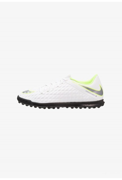 Nike PHANTOMX 3 CLUB TF - Chaussures de foot multicrampons white/chrome/volt