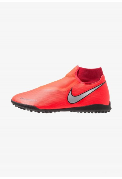 Nike PHANTOM OBRAX 3 ACADEMY DF TF - Chaussures de foot multicrampons bright crimson/metalic silver/university red/black