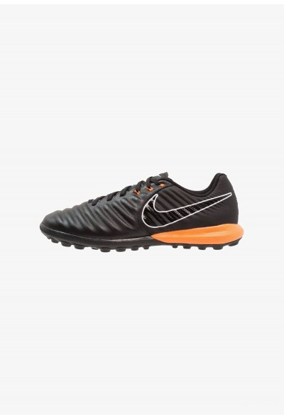 Nike TIEMPO LUNAR LEGENDX 7 PRO TF - Chaussures de foot multicrampons black/total orange