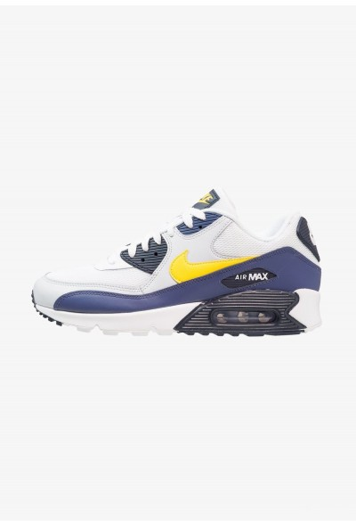 Nike AIR MAX 90 ESSENTIAL - Baskets basses white/tour yellow/blue recall