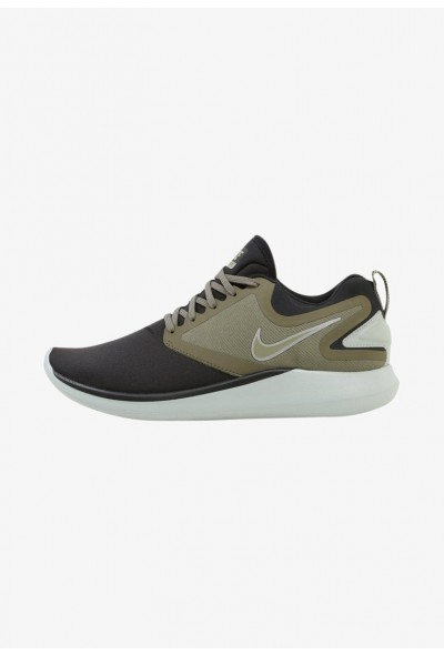 Nike LUNARSOLO - Chaussures de running neutres black/medium olive/light pumice/volt
