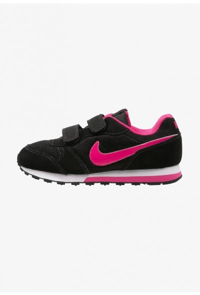 Nike MD RUNNER 2 - Baskets basses black/vivid pink/white