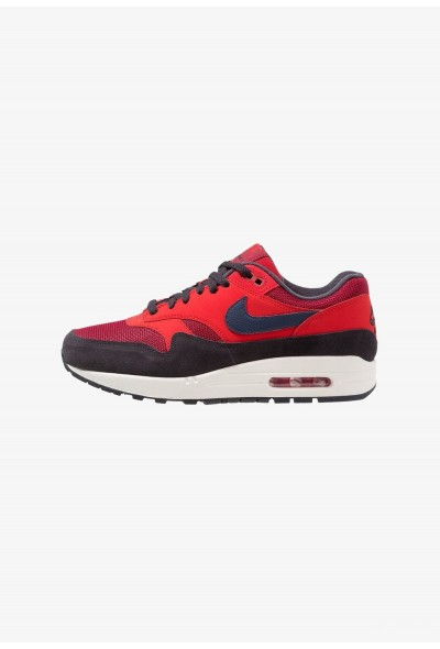 Nike AIR MAX 1 - Baskets basses red crush/midnight navy/universal red/oil grey/sail