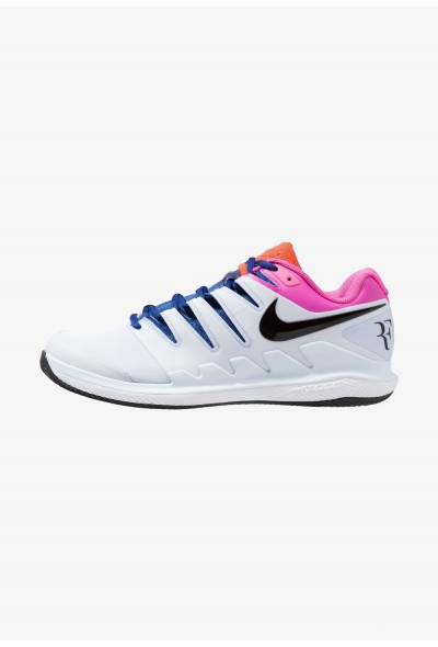 Nike AIR ZOOM VAPOR X CLAY - Chaussures de tennis sur terre battue half blue/black/white/laser fuchsia/bright crimson/indigo force