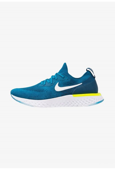 Nike EPIC REACT FLYKNIT - Chaussures de running neutres green abyss/white/blue force/volt