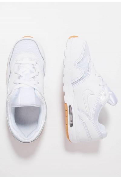 Nike AIR MAX 1 - Baskets basses white/light brown